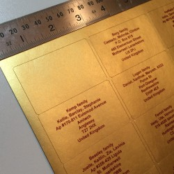 Gold Address Labels
