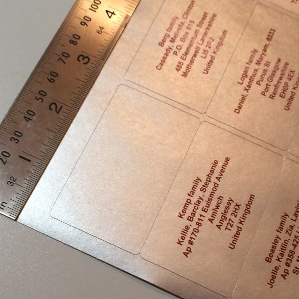 Silver Address Labels
